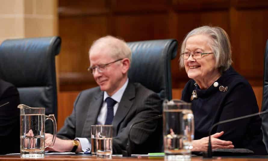 Lord Reed, the president of the supreme court, succeeded Lady Hale, right, in January.