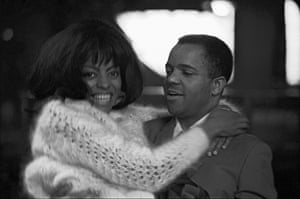 Diana Ross & Berry Gordy backstage at Finsbury Park Astoria, London for the opening of the Tamla-Motown UK tour, March 1965