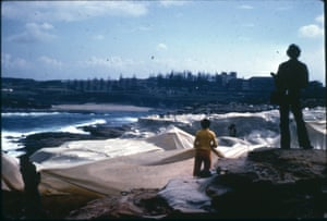 In 1969, Christo and Jeanne-Claude's Wrapped Coast at Sydney's Little Bay was the first large-scale public art project presented anywhere in the world. Photograph: Ellen Waugh