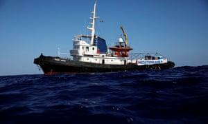 The Mare Jonio rescue boat