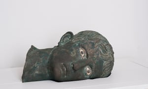 The toppled head of the Emperor Augustus, 27-25BC, at the British Museum.