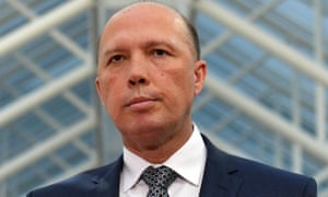 Australian minister for home affairs Peter Dutton