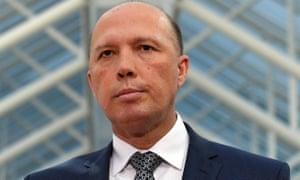 Australian minister for home affairs Peter Dutton