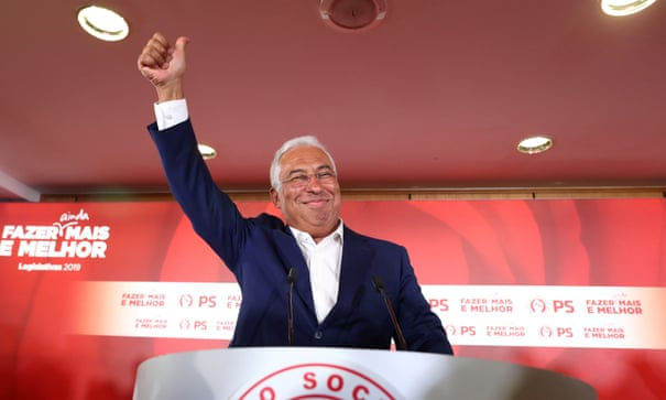 Portugal election result cements modest gains for Europe's centre-left | Portugal | The Guardian