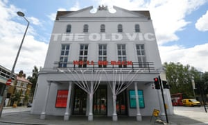 London's Old Vic theatre displays 'we'll be back' signage