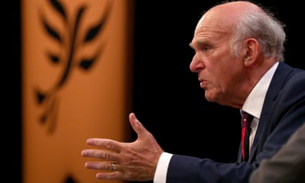 Liberal Democrats Autumn Conference 2018Leader of the Liberal Democrats Sir Vince Cable speaks at the party's Autumn Conference at the Brighton Centre in Brighton. PRESS ASSOCIATION Photo. Picture date: Sunday September 16, 2018. See PA story POLITICS LibDems. Photo credit should read: Gareth Fuller/PA Wire