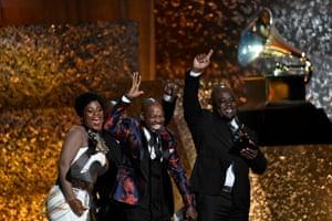 Soweto Gospel Choir, winners of Best World Music Album for 'Freedom', on stage