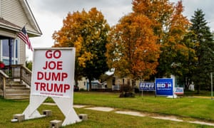 A household in Wisconsin this month backing the US Democratic presidential candidate, Joe Biden