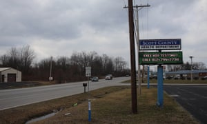 The Scott county health department in Scottsburg, Indiana, advertises free HIV testing services. Austin, a town of just over 4,000 people a few miles down the road from Scottsburg, saw a 2015 HIV outbreak that eventually infected more than 200 people.