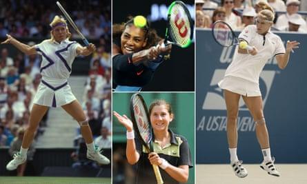 Martina Navratilova, Serena Williams, Steffi Graf and Monica Seles