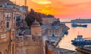 Valletta Waterfront at dawn, Malta