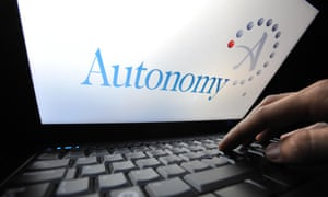 Logo on screen of software firm Autonomy