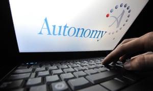 the Autonomy logo on a laptop screen