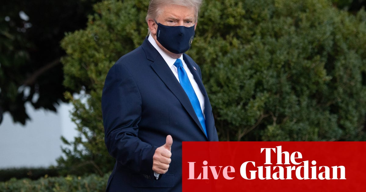 Coronavirus live news: Trump treated with remdesivir in hospital as allies test positive to Covid – The Guardian