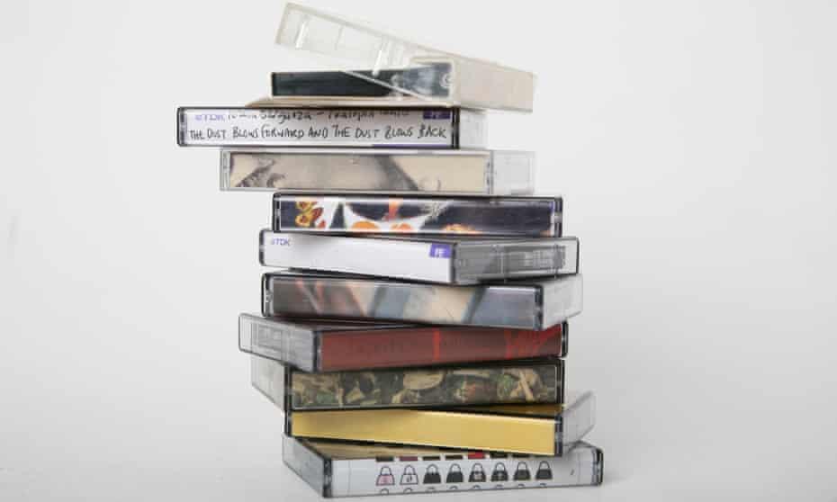 A stack of mixtapes.