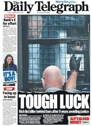 front-page daily tele 24 april 2018