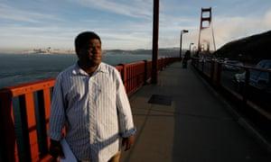 Gary Younge on Golden Gate bridge, San Francisco
