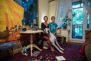 Disappearing Moscow Yulia and her son Maxim inside their family home scheduled for demolition. She fears they will be evicted and moved to a new neighbourhood away from friends and family