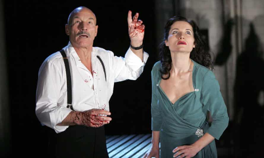 Patrick Stewart and Kate Fleetwood in a 2007 production of Macbeth.