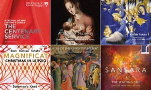 Clockwise from top left: Christmas releases from the Choir of King's College, Cambridge; Sansara; Solomon's Knot; Yale Schola Cantorum; Stile Antico; and Gothic Voices.