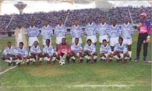 Eric Eugène Murangwa with Rayon Sports in 1992.