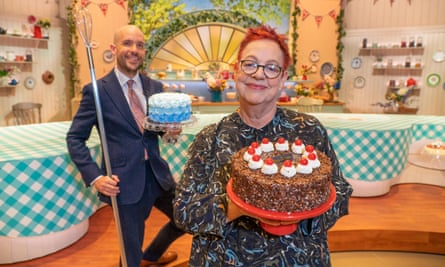Barbs … with Jo Brand on Bake Off's Extra Slice.