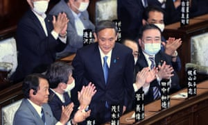 Yoshihide Suga is elected as the new prime minister of Japan.