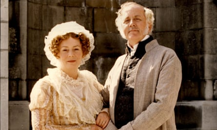 The quietly hilarious Benjamin Whitrow with Alison Steadman as Mr and Mrs Bennet in the BBC's 1995 serial of Pride and Prejudice.