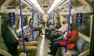 A tube carriage during the pandemic