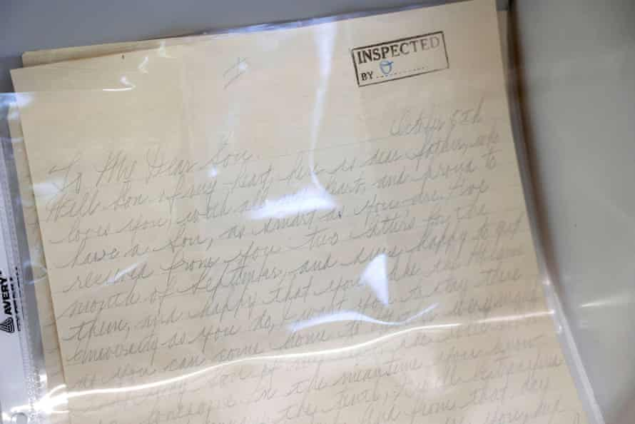 A letter to Sonny Capone from his father.