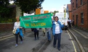 Rosemary Blenkinsop (right), Extinction Rebellion protester.