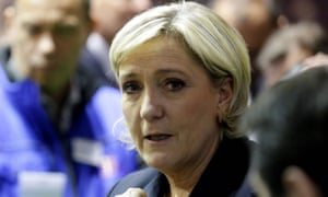 Presidential election candidate Marine Le Pen