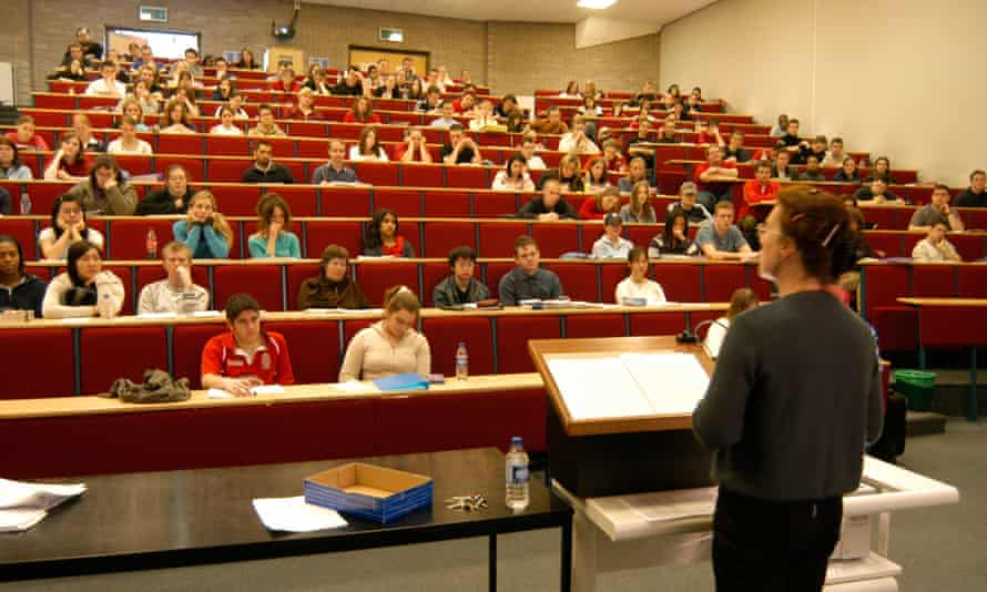 A law lecture at Aberystwyth University. Along with psychology, history, philosophy, English and biology, law is a subject heavily dominated by female students.
