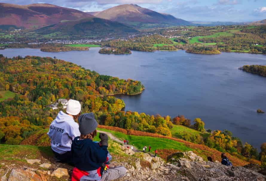 The view over Derwent Water from Catbells.