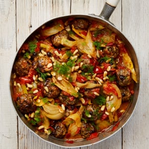 Yotam Ottolenghi's lamb meatballs with braised fennel.