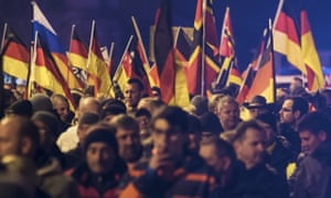 A demonstration initiated by the anti-immigration Alternative for Germany (AfD) party (AP Photo/Jens Meyer)