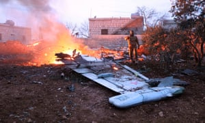 Rebel fighters shot down a Russian plane over Syria's north-west Idlib province and killed its pilot.