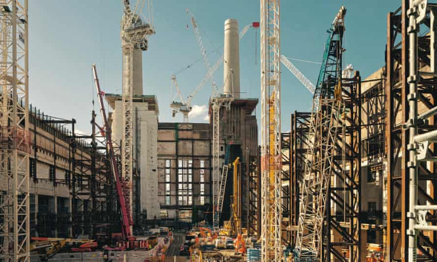 Construction work on Battersea Power Station.