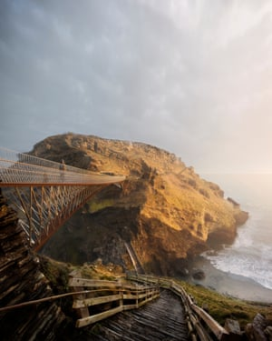 The winning design was partly inspired by the original drawbridge at Tintagel Castle.