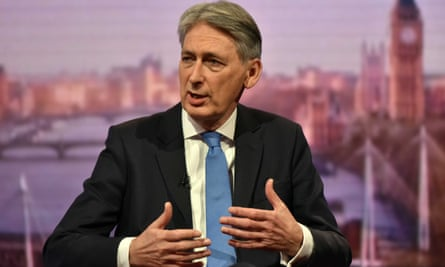 Chancellor of the Exchequer Philip Hammond appearing on the BBC1 current affairs programme, The Andrew Marr Show.