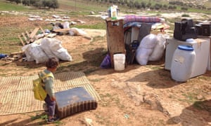 Demolition - Residential tent and kitchen - Susiya - 20 January 2016