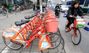 China is now the world leader in shared bikes.