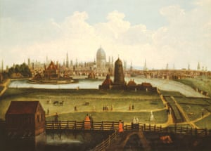 Prospect of the city from the North c 1730 by an unknown artist