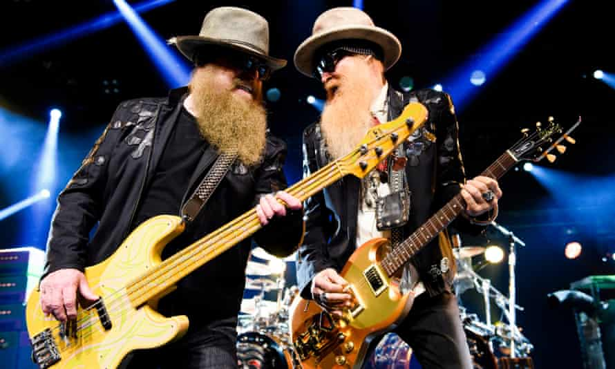 Dusty Hill (left) and Billy Gibbons performing in 2016.