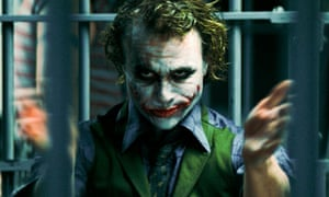 Heath Ledger as The Joker in 2008's The Dark Knight.