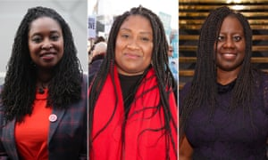 Composite photo of Labour MPs Dawn Butler (left), Bell Ribeiro-Addy (centre) and Marsha de Cordova