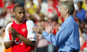 Thierry Henry and Arsène Wenger
