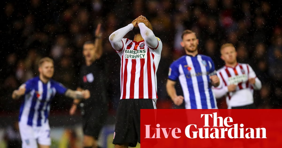 Sheffield United 0 0 Sheffield Wednesday As It Happened Football