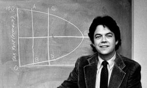 Economist Arthur Laffer shows off his curves.