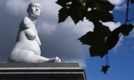 Marc Quinn's s statue Alison Lapper Pregnant was on display in Trafalgar Square in London for two years